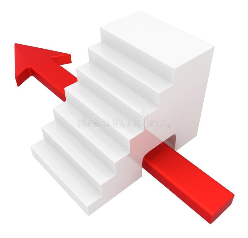 Piltrappa under stock illustrationer
