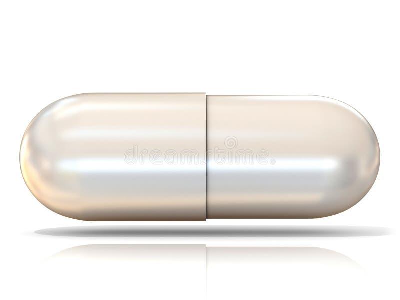 Pilule 3D blanche illustration stock