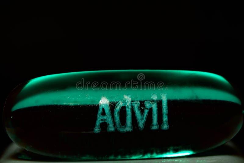Pilule de plan rapproché d'Advil image libre de droits