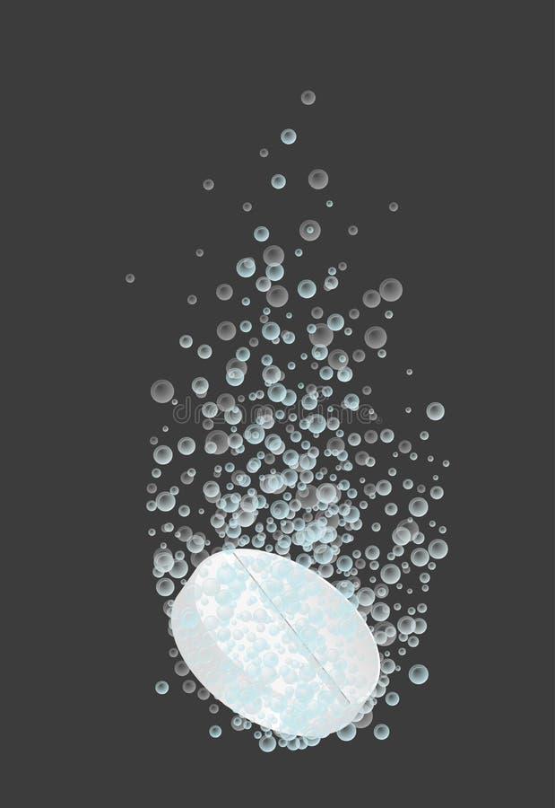 pilule soluble en forme ronde illustration stock