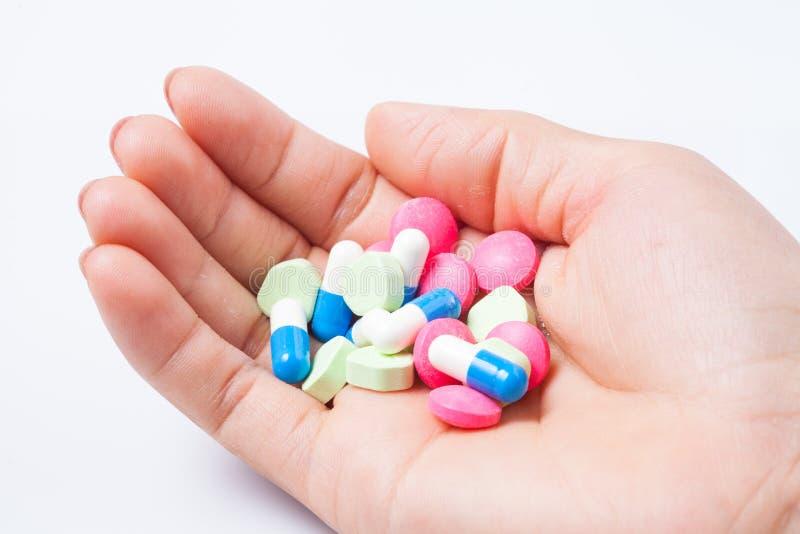 Pilules à disposition images libres de droits