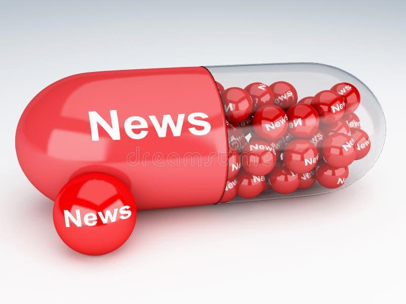 pilules 3d avec des actualités illustration de vecteur
