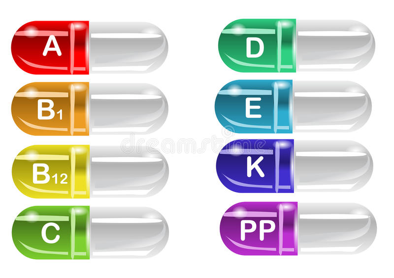 Pilules de vitamine illustration stock
