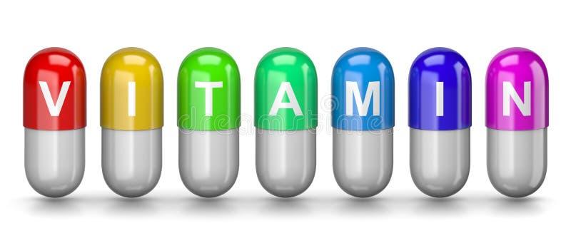 Pilules de vitamine illustration libre de droits