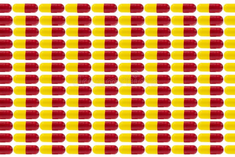 Pilules et drogue en baisse de comprimés illustration libre de droits