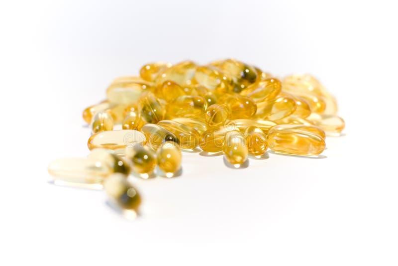 Pilules jaunes images stock