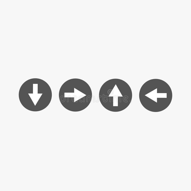 Piluppsättning, pilsymbol för din webbplatsdesign, logo, app, UI också vektor för coreldrawillustration 10 eps vektor illustrationer
