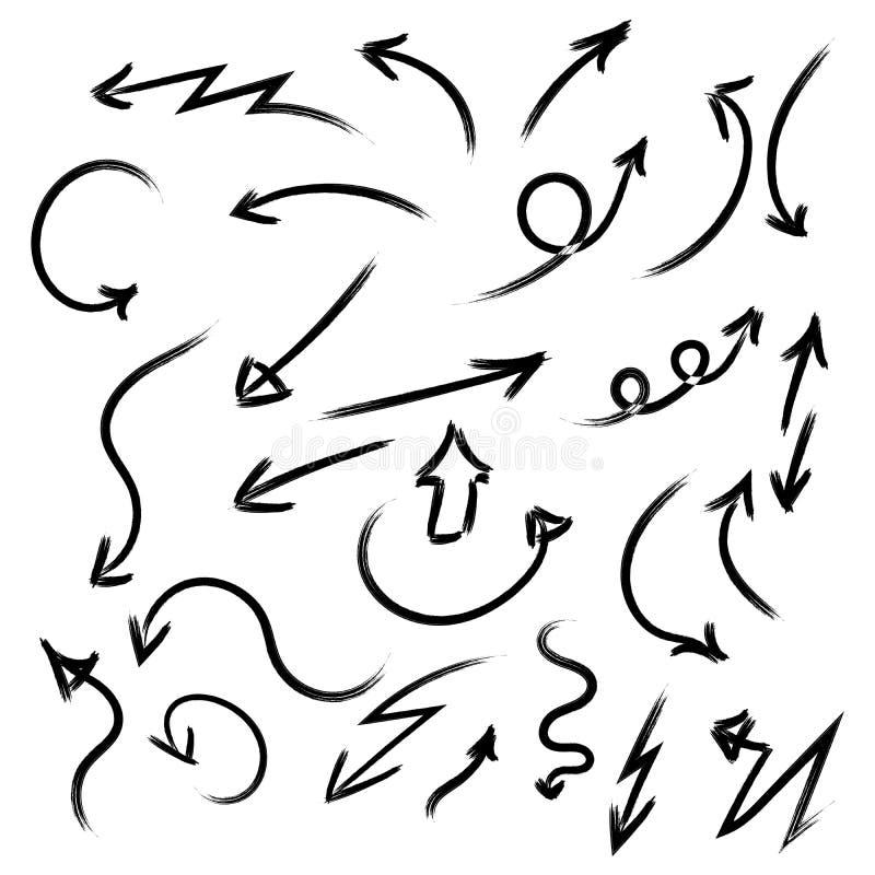 Pilvektorsamling med elegant stil och svart f?rg ocks? vektor f?r coreldrawillustration stock illustrationer
