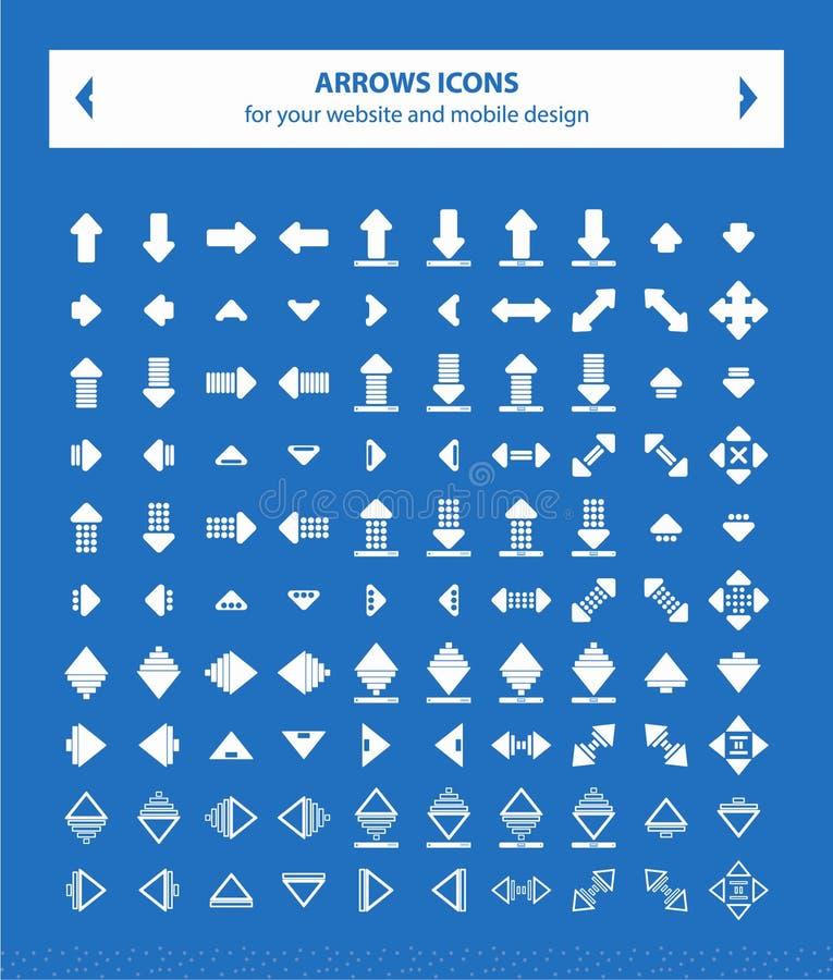 Pilvektorsymboler - plan vit royaltyfri foto