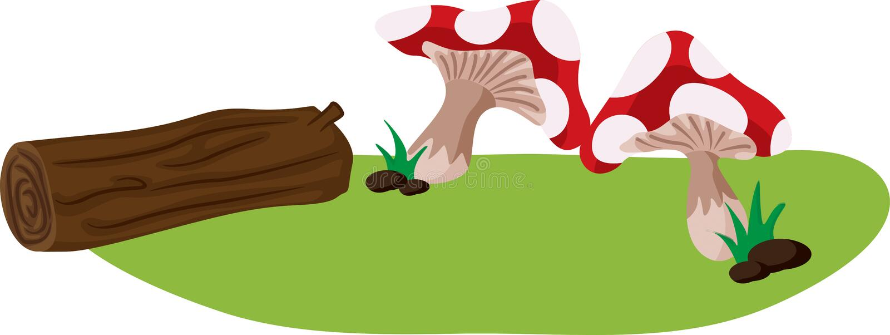 Pilz und Protokoll lizenzfreie abbildung