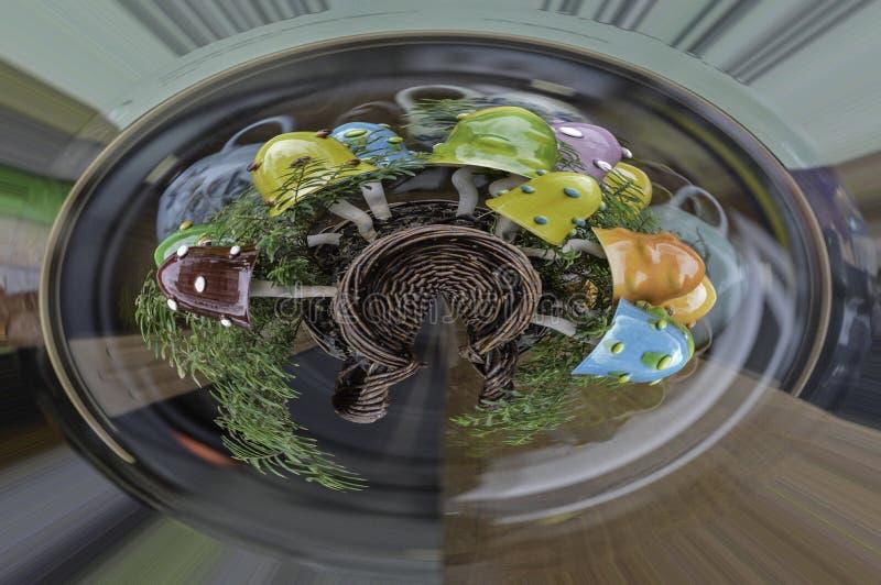 Pilzskulptur 360 stockbilder