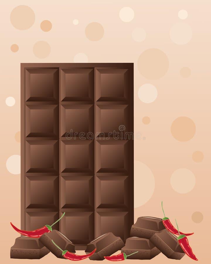 Pimentões do chocolate ilustração stock
