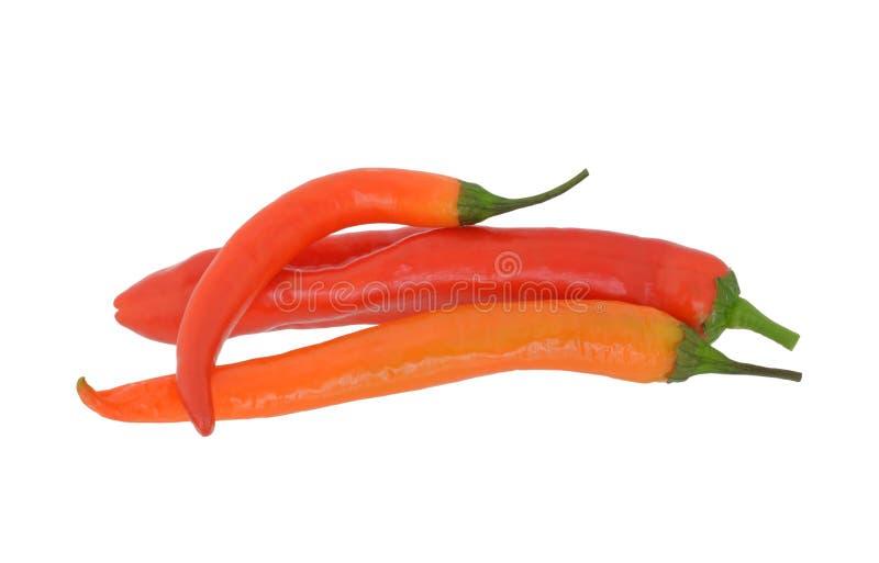 Pimentões vermelhos quentes fotos de stock