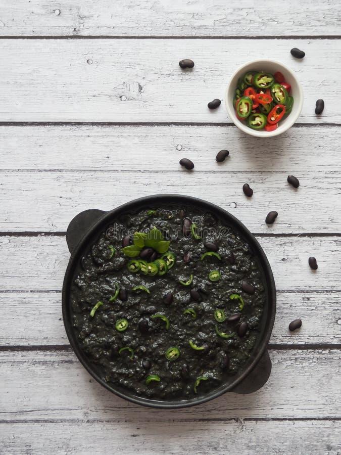 Piment noir des haricots noirs Cuisine ethnique photo libre de droits
