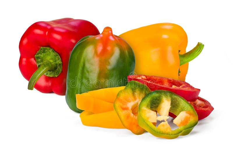 Piment tricolore photo stock