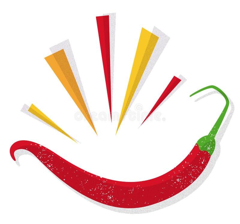 Pimenta de pimentão vermelho ilustração do vetor