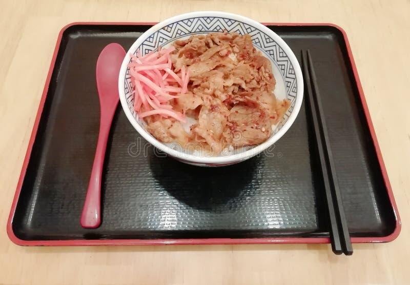 Pimenta de Sichuan do molho do arroz da carne de porco fotos de stock