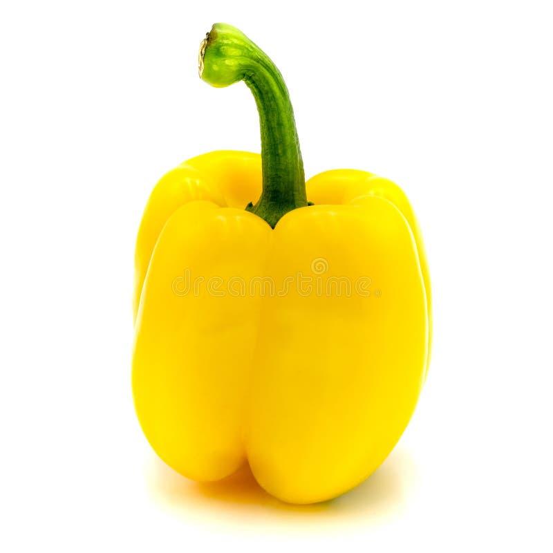 Pimenta de sino amarelo, isolada em um fundo branco imagem de stock royalty free