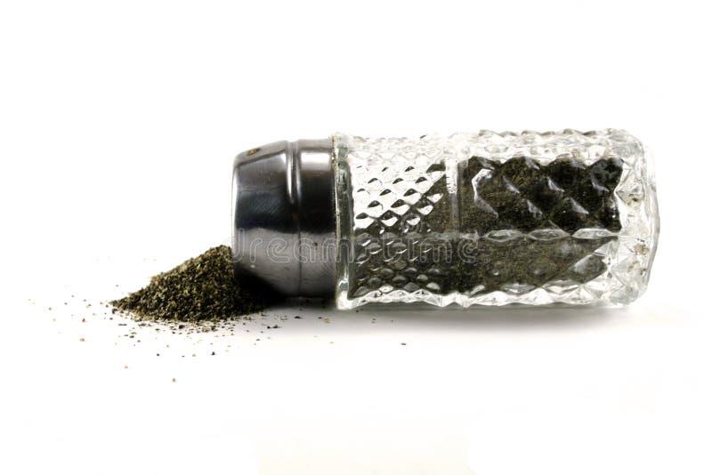 Pimenta derramada fotografia de stock
