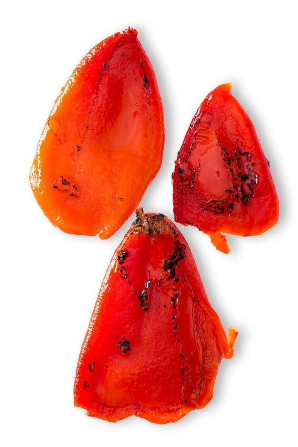 Pimenta doce vermelha roasted carbonizada colorida imagens de stock royalty free