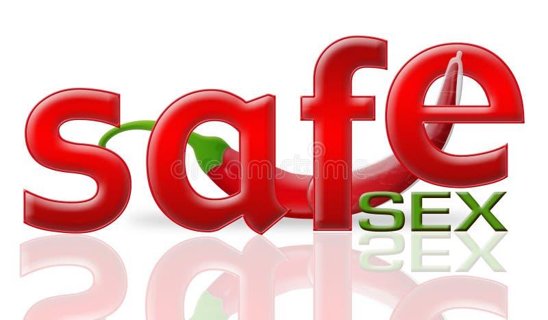 Pimenta e sexo seguro ilustração stock