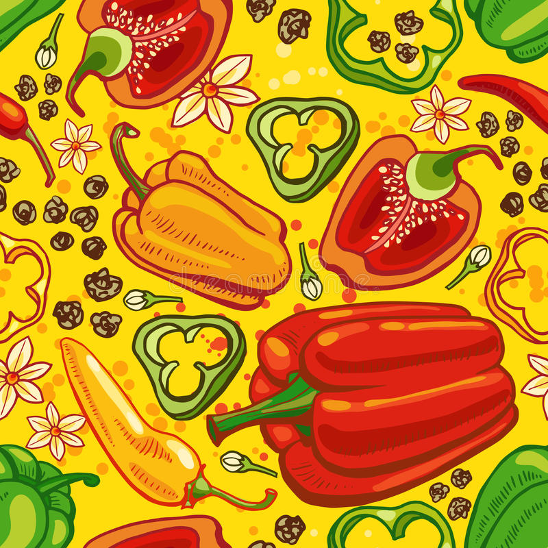 Pimenta sem emenda ilustração stock