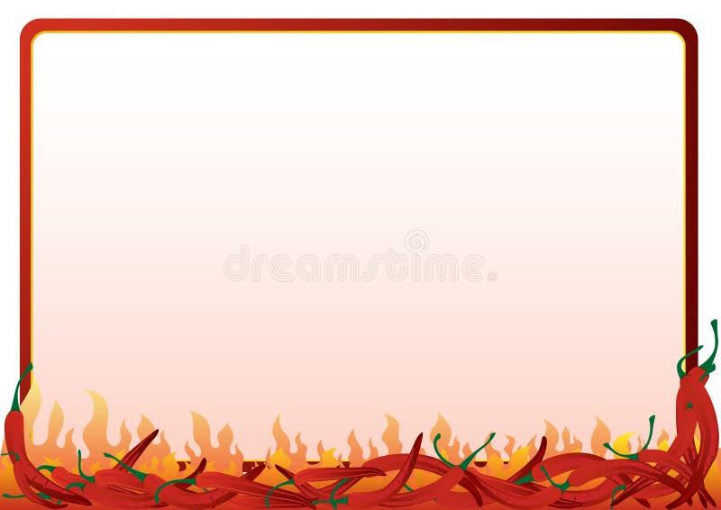 Pimenta vermelha quente ilustração royalty free