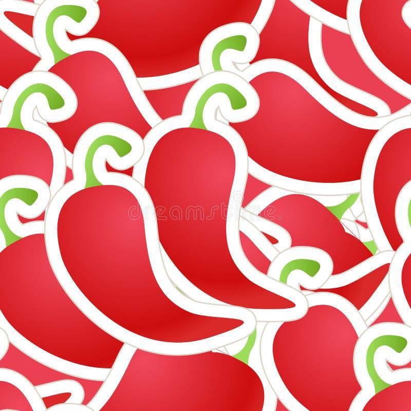 Pimenta vermelha quente ilustração stock
