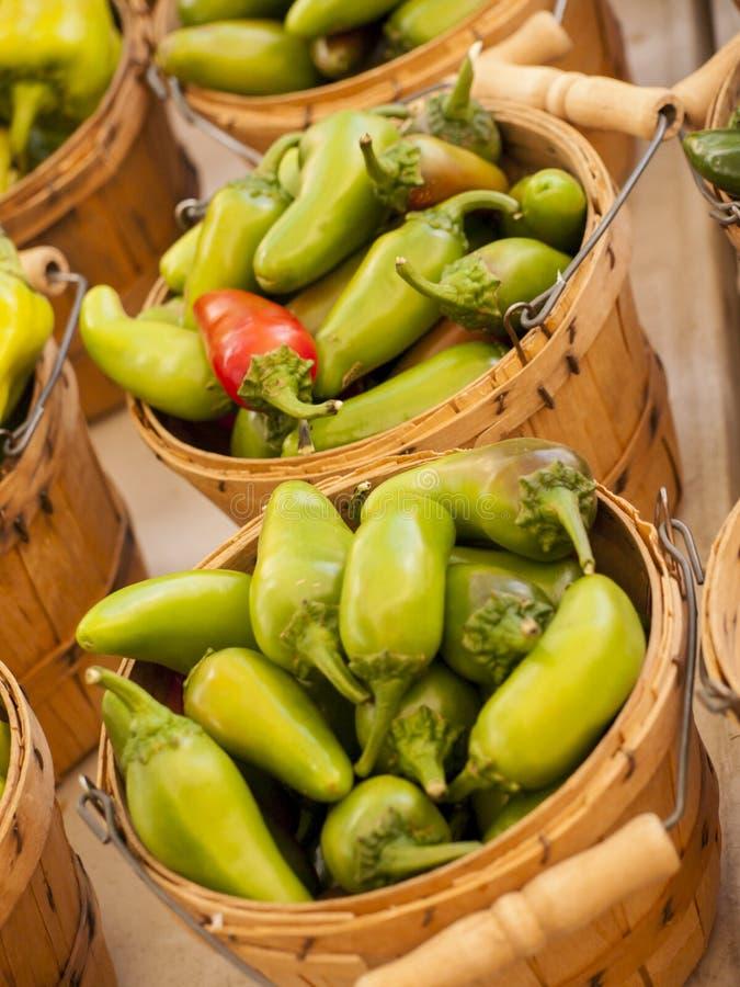 Download Pimentas foto de stock. Imagem de cesta, saudável, fazendeiros - 26503682
