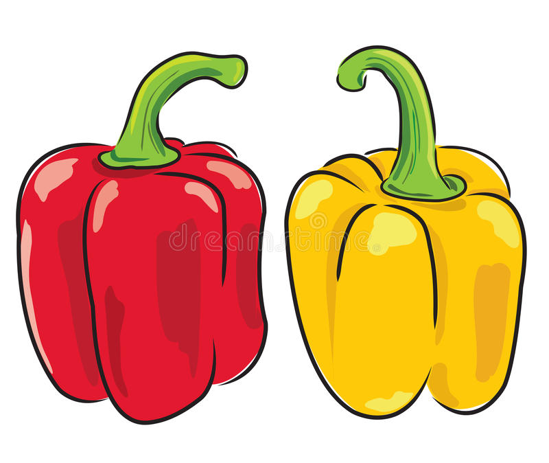 Pimentas de Bell ilustração do vetor