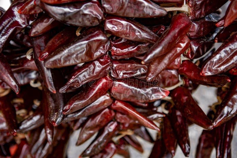 Pimentas de pimentão encarnados - Espelette foto de stock royalty free