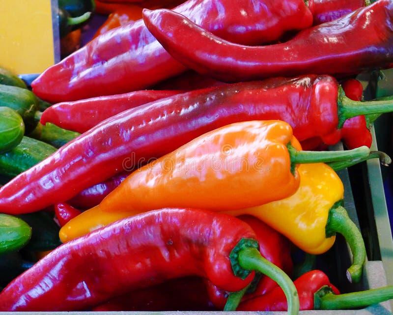 Pimentas de pimentão para a venda fotos de stock