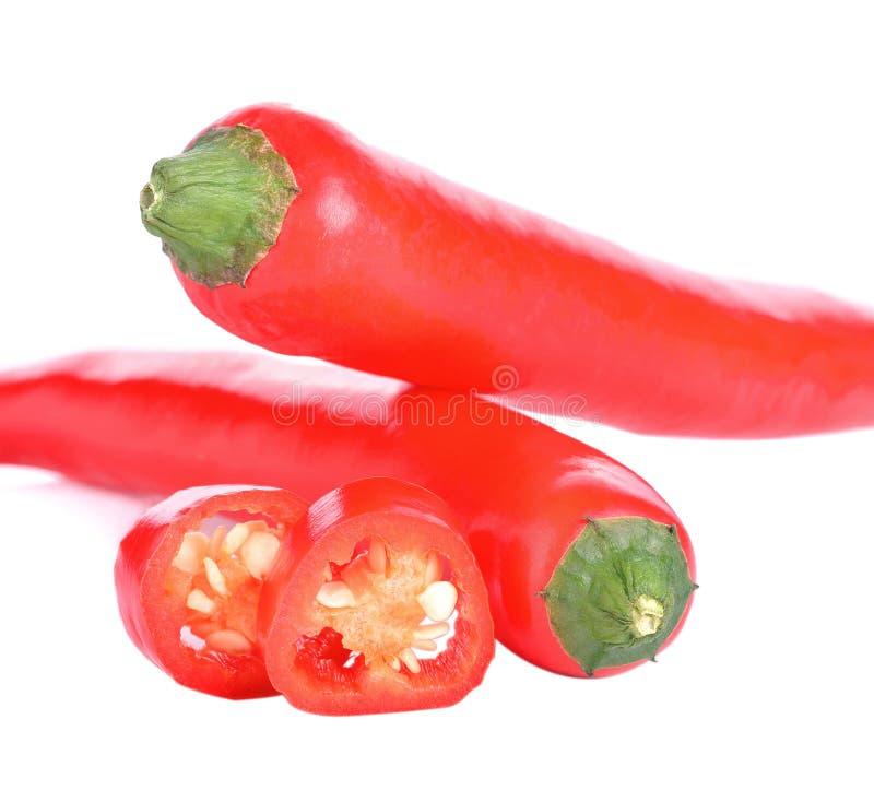 Pimentas de pimentões vermelhos imagens de stock
