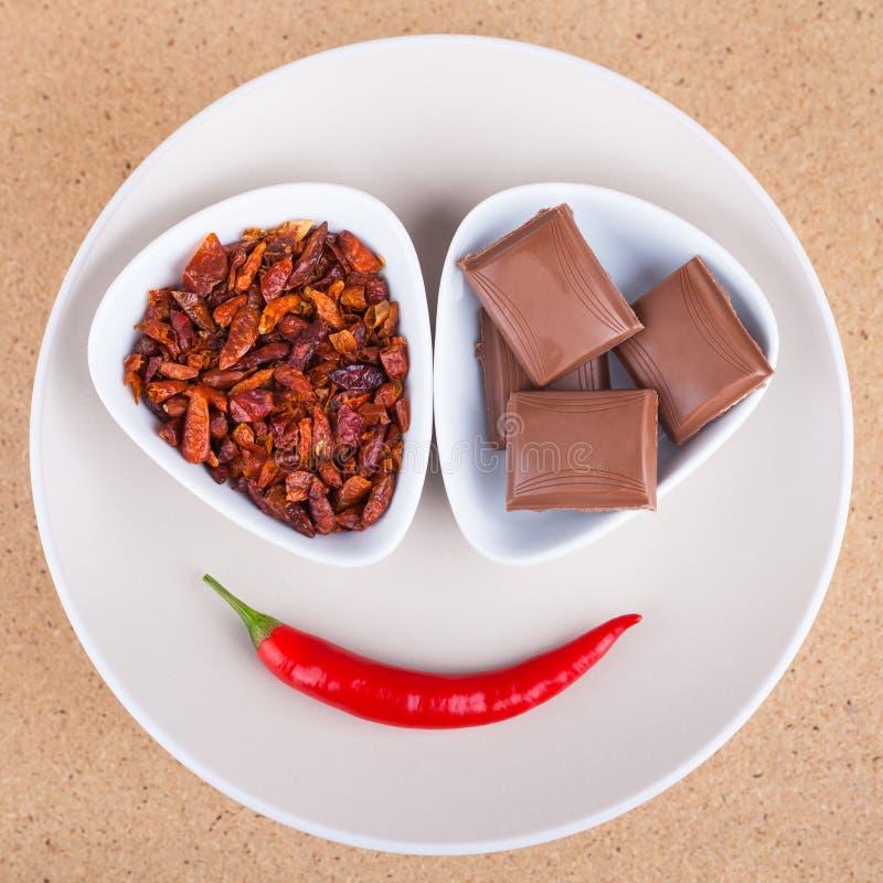 Pimentas e chocolate de pimentão imagens de stock royalty free