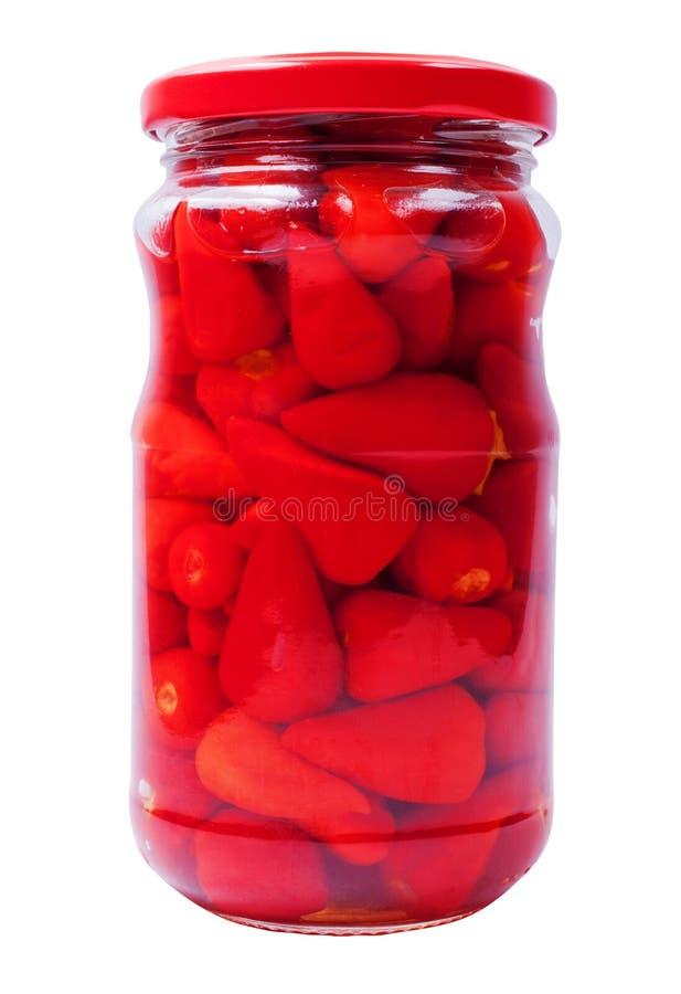 Pimentas em um frasco imagem de stock royalty free
