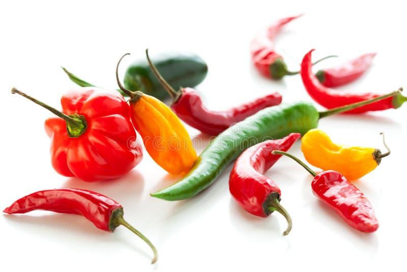 Pimentas quentes misturadas imagens de stock royalty free