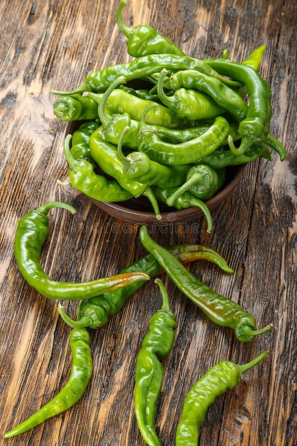 Pimentas verdes quentes imagem de stock royalty free