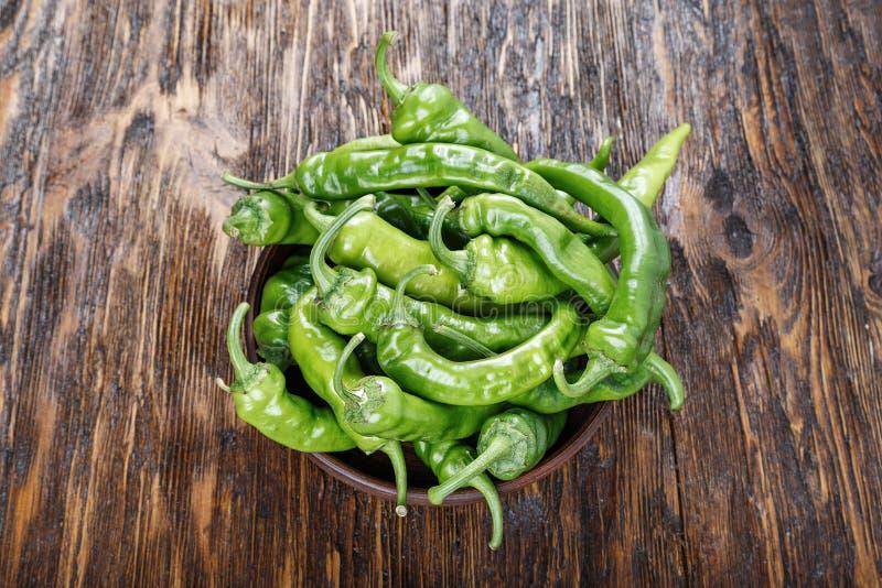Pimentas verdes quentes imagens de stock royalty free