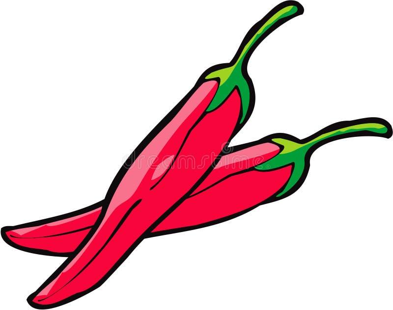 Pimentas vermelhas ilustração do vetor