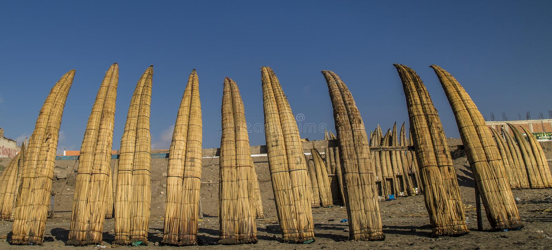Pimentelstranden in chiclayo - Peru royalty-vrije stock afbeelding