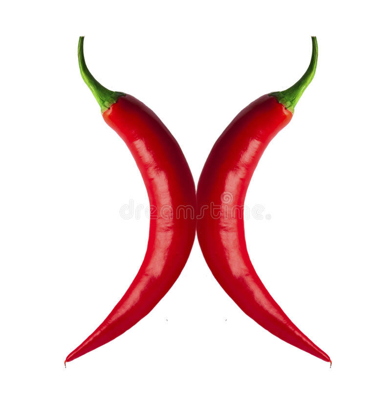 Download Piments rouges épicés image stock. Image du épicé, courbes - 56483221