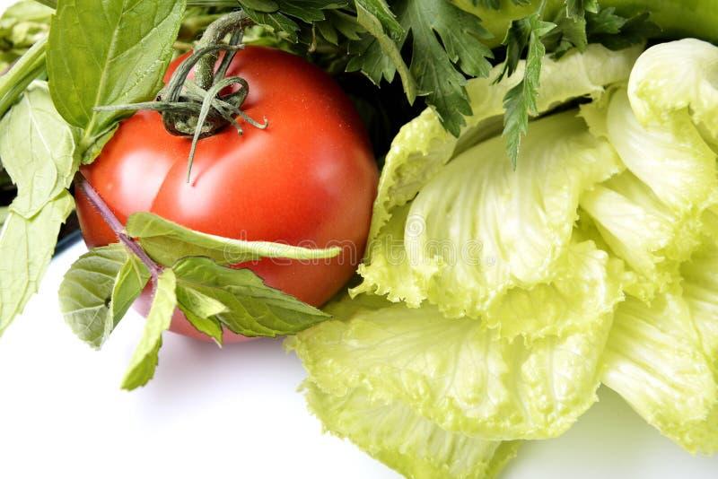 Pimienta, ajo, cebolla, tomates fotos de archivo libres de regalías