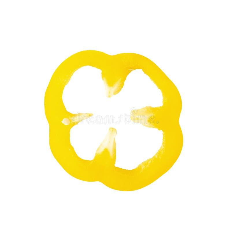 pimienta amarilla dulce aislada sobre el fondo blanco imagen de archivo