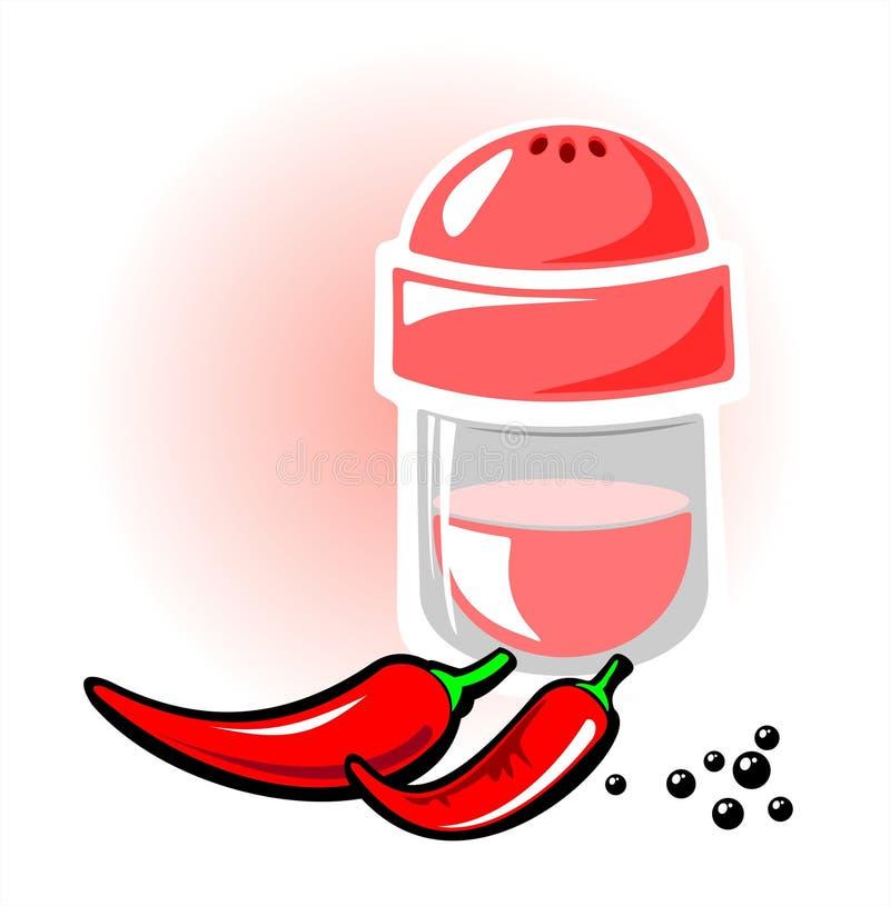 Pimienta caliente ilustración del vector
