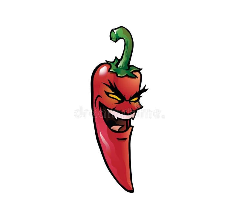 Pimienta de chile candente malvada libre illustration