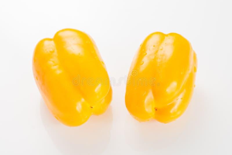 Pimienta de chiles del color en el fondo blanco fotografía de archivo