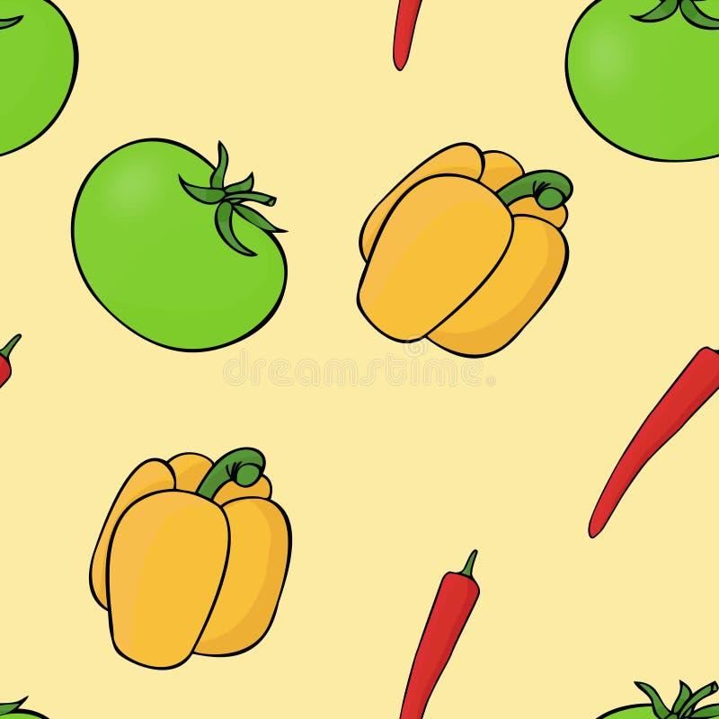 Pimienta del tomate del modelo Vector de la pimienta stock de ilustración