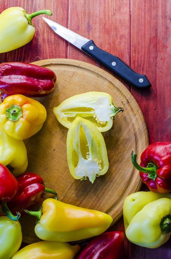 Pimienta dulce fresca, variada imagen de archivo
