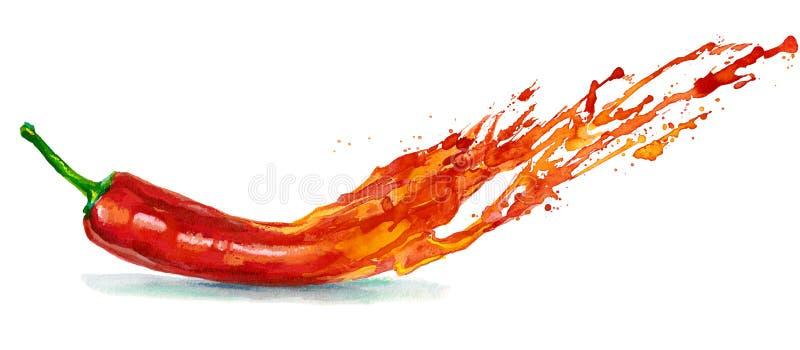 Pimienta peligrosa stock de ilustración