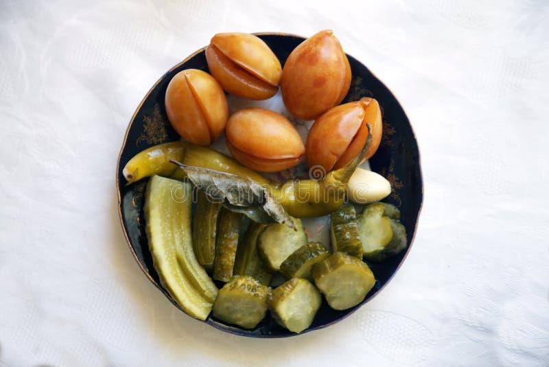 Pimienta tradicional asiática turca de la comida del Ramadán rellena con arroz y carne picadita foto de archivo libre de regalías